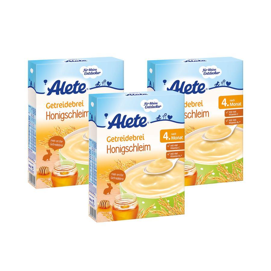 ALETE Getreidebrei Honigschleim 3x250g