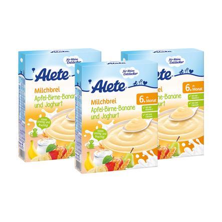 ALETE Milchbrei Joghurt Apfel-Birne-Banane 3x250g