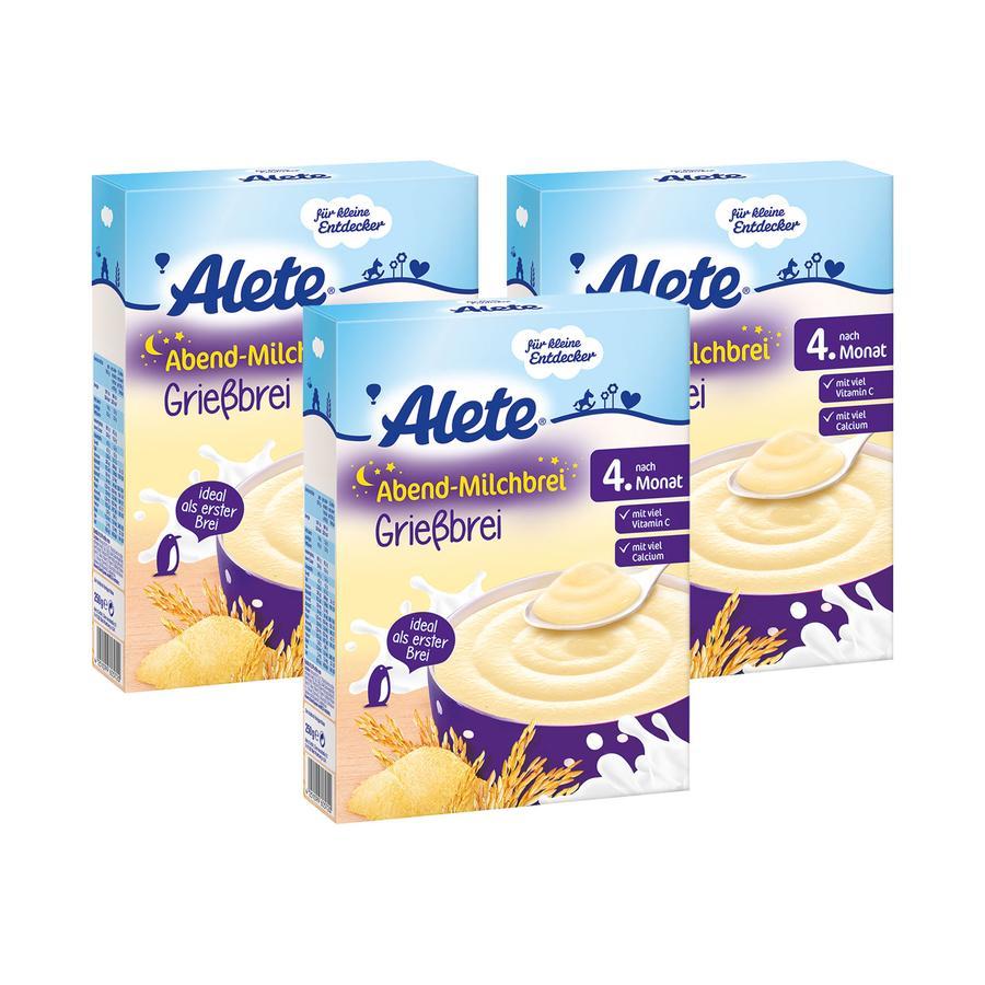 ALETE Träum schön Milchbrei Grießbrei 3x250g