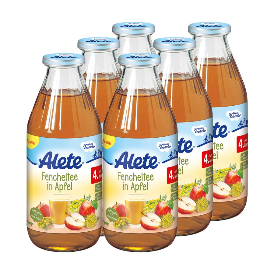 Alete Fenchel Tee in Apfel 6 x 500 ml