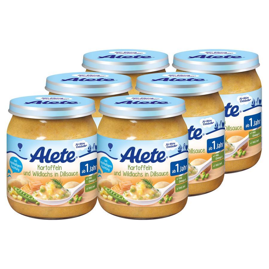 ALETE Kartoffeln und Lachs in Dillsauce 6x250g