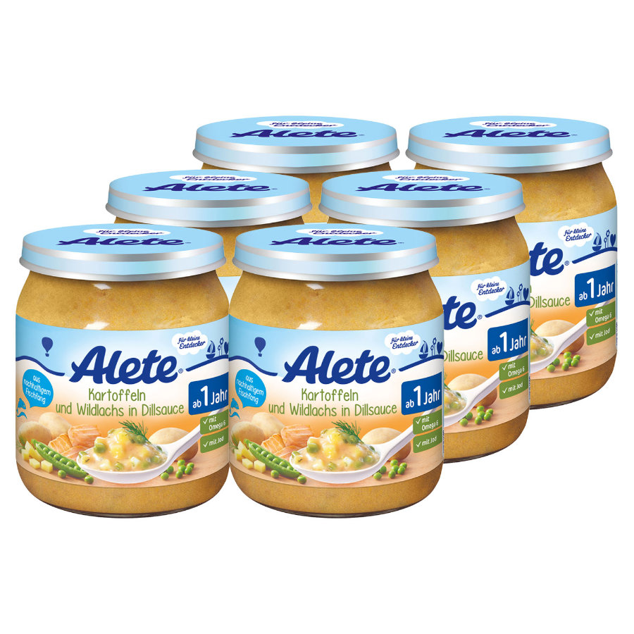 ALETE Little Discoverer Potatoes & Salmon in Dill Sauce 6 x 250 g
