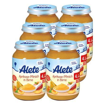 ALETE Aprikose-Pfirsich in Birne 6x190g