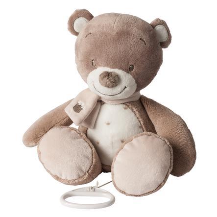 NATTOU Noa, Tom & Max - Plyšová hračka s hracím strojkem Medvěd Tom
