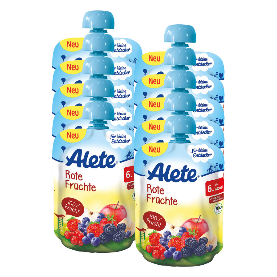 ALETE Pouch Rote Früchte 10x90g