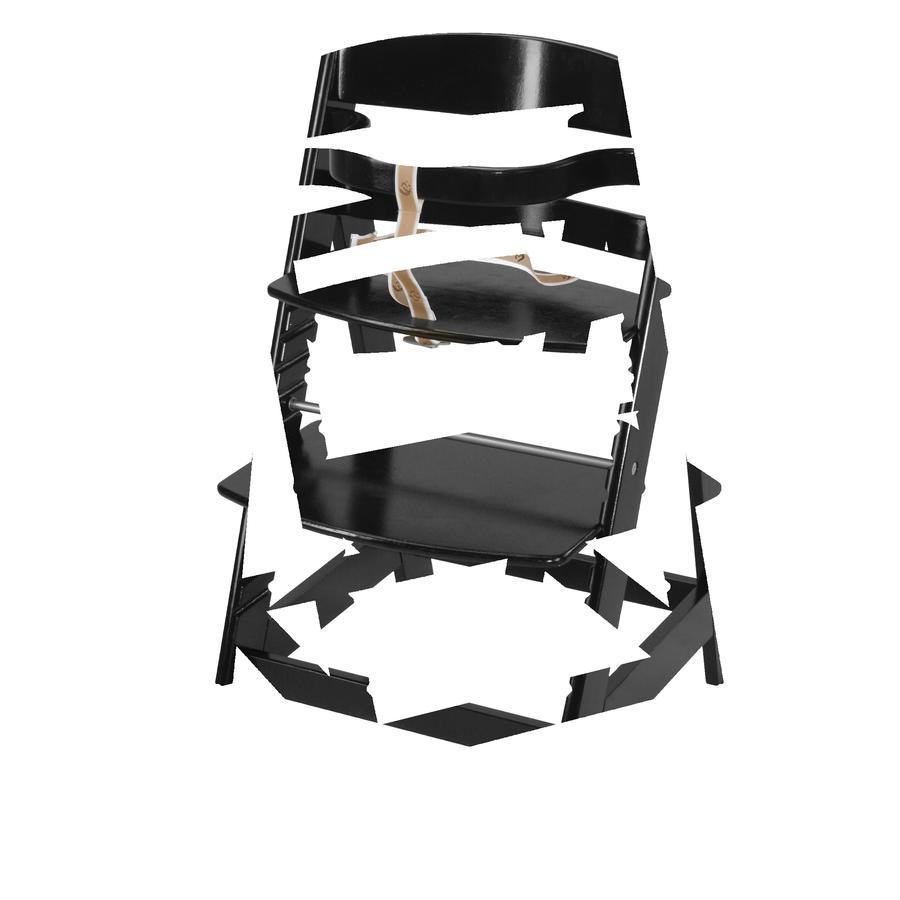 roba Chaise haute à marche Sit Up III bois, noir