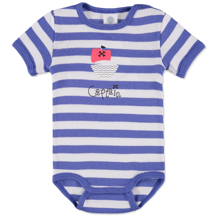 SANETTA Boys Romper blue/white