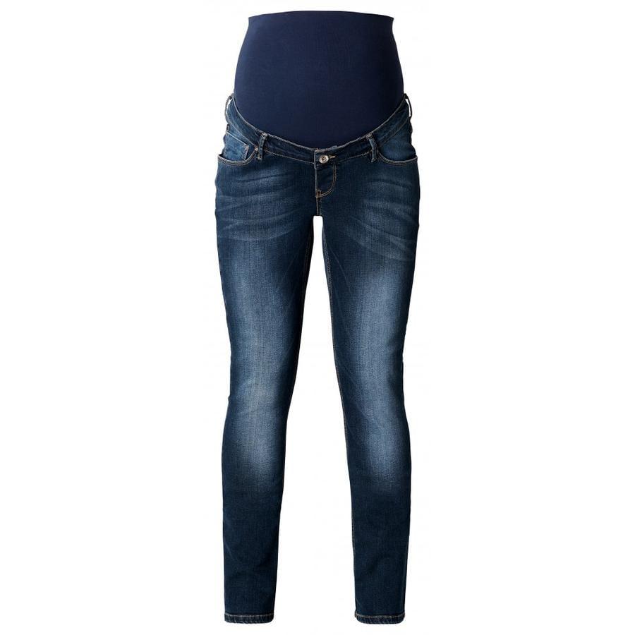NOPPIES Spodnie dla kobiet w ciąży Jeans Mena Plus dark stone wash Plussize