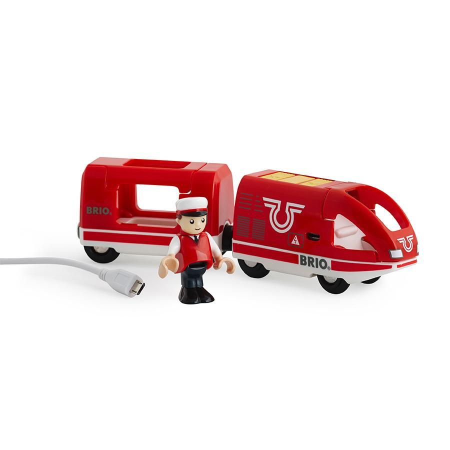 BRIO Pociąg kolor czerwony z akumulatorkiem