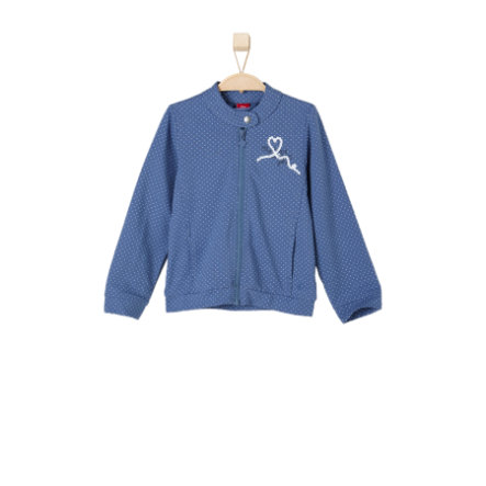 s.OLIVER Girls Sweatjacke medium blue