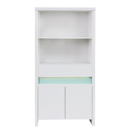 SCHARDT Bibliothèque PLANET TURQUOISE, blanc/turquoise