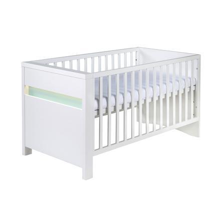 SCHARDT Lit bébé évolutif PLANET TURQUOISE 70 x 140 cm, blanc/turquoise