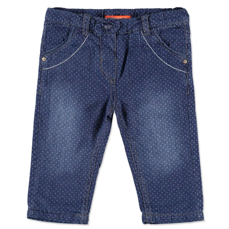 Staccato Girls Baby Spodnie Termojeans Punkte blue denim
