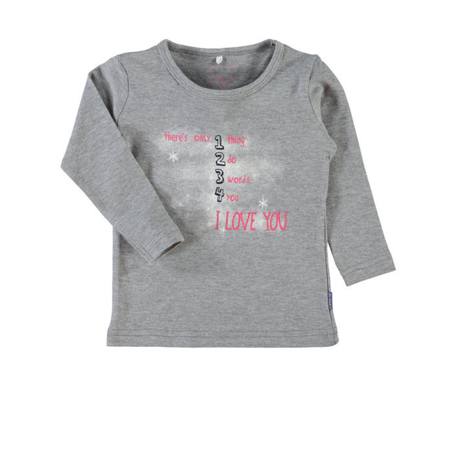NAME IT Girls Longsleeve NITVEEN grey melange