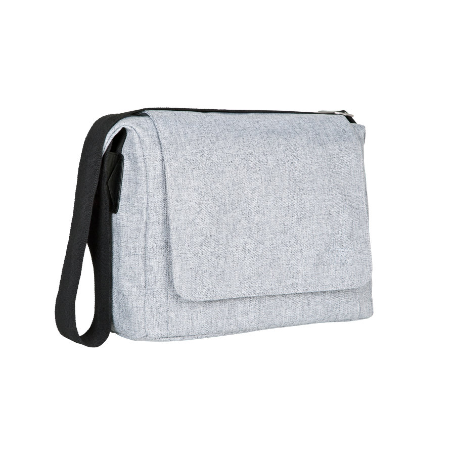 LÄSSIG Green Label Luiertas Small Messenger Bag Black Melange