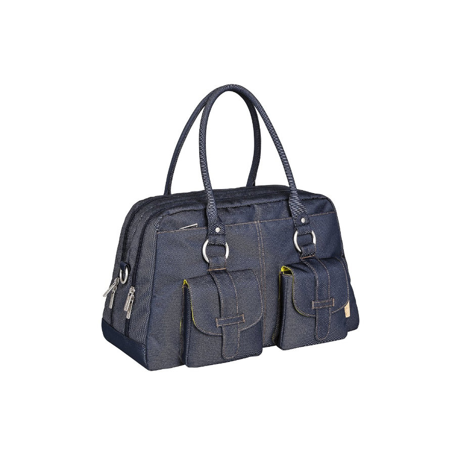 LÄSSIG Luiertas Green Label Metro Bag Denim Blue