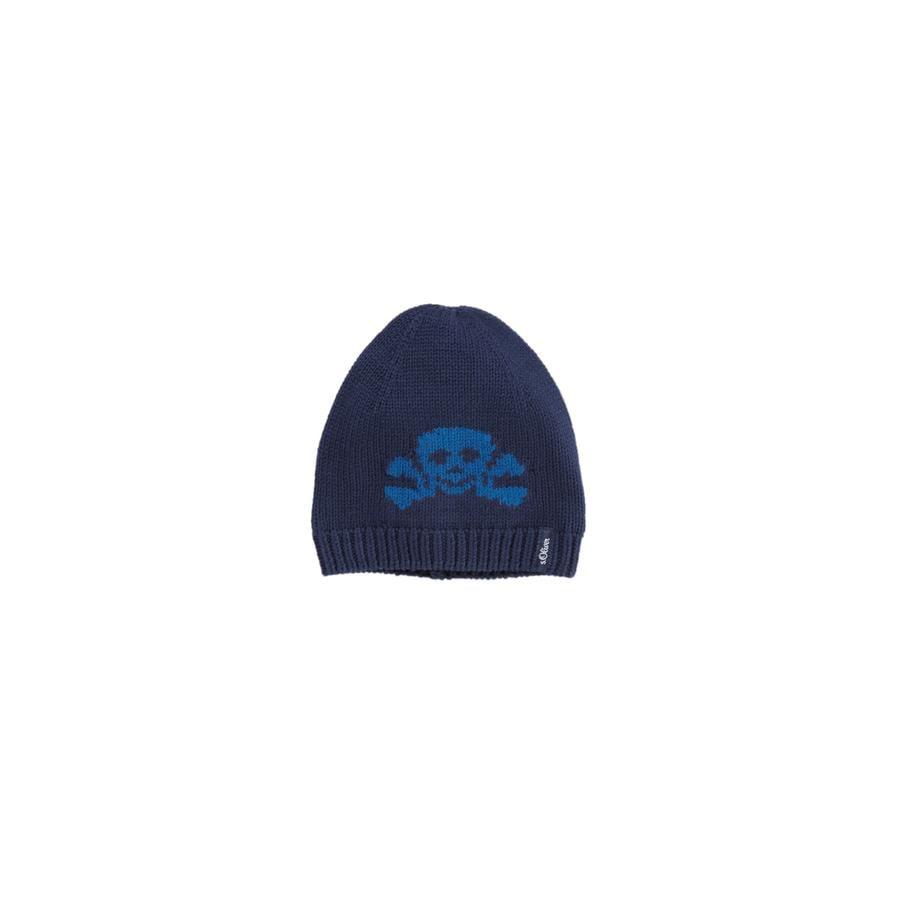 s.OLIVER Boys Mini bonnet tricoté bleu moyen