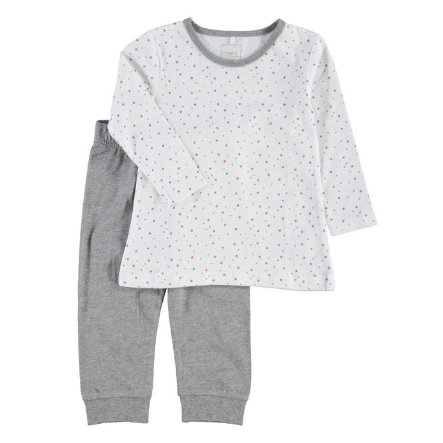 NAME IT Girls Pyjama 2-delig bright white