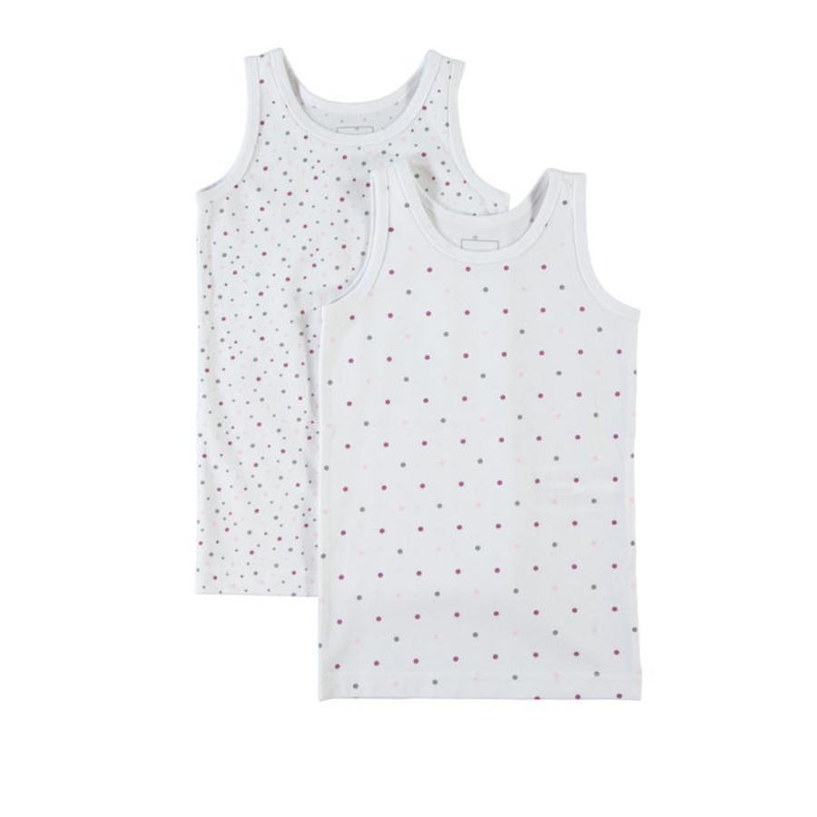 NAME IT Girls Hemd 2 stuks bright white