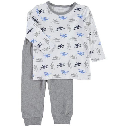 NAME IT Boys Pyjama 2-delig bright white