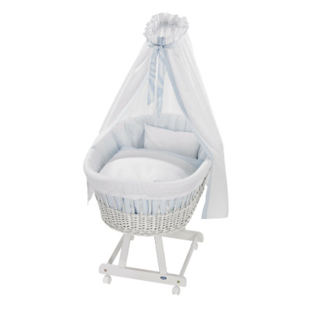 Alvi® Moisés Birthe blanco 631-1 Little Dots azul