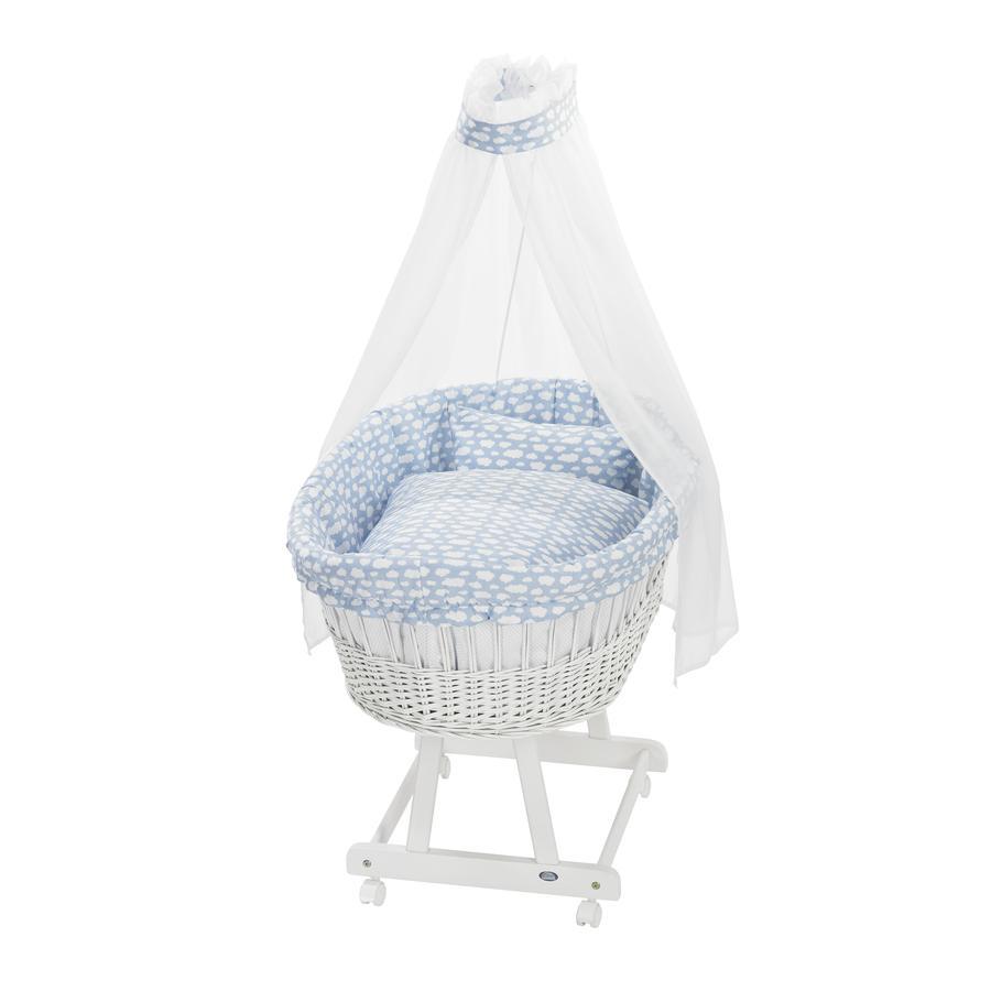 ALVI Set complet de berceau Birthe, blanc, Nuage bleu 653-1