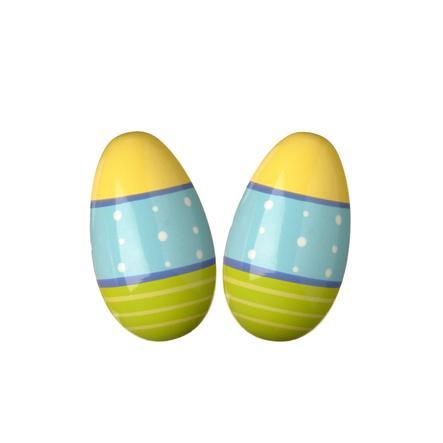 EITECH Chrastítko vajíčko pár (zelená, modrá, žlutá)