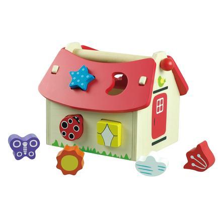 New Classic Toys Jeu tri de formes maison bois 8 briques