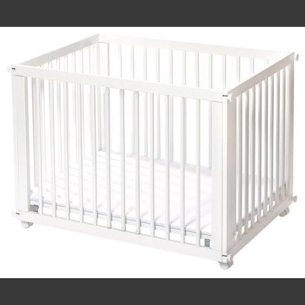 easy baby Box/culla Sleep & Play bianco con materassino