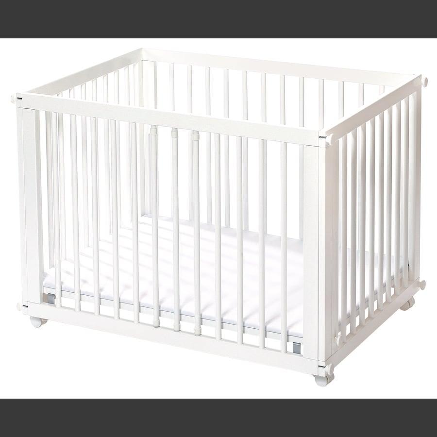 easy baby Sleep Play blanco incl. colchón