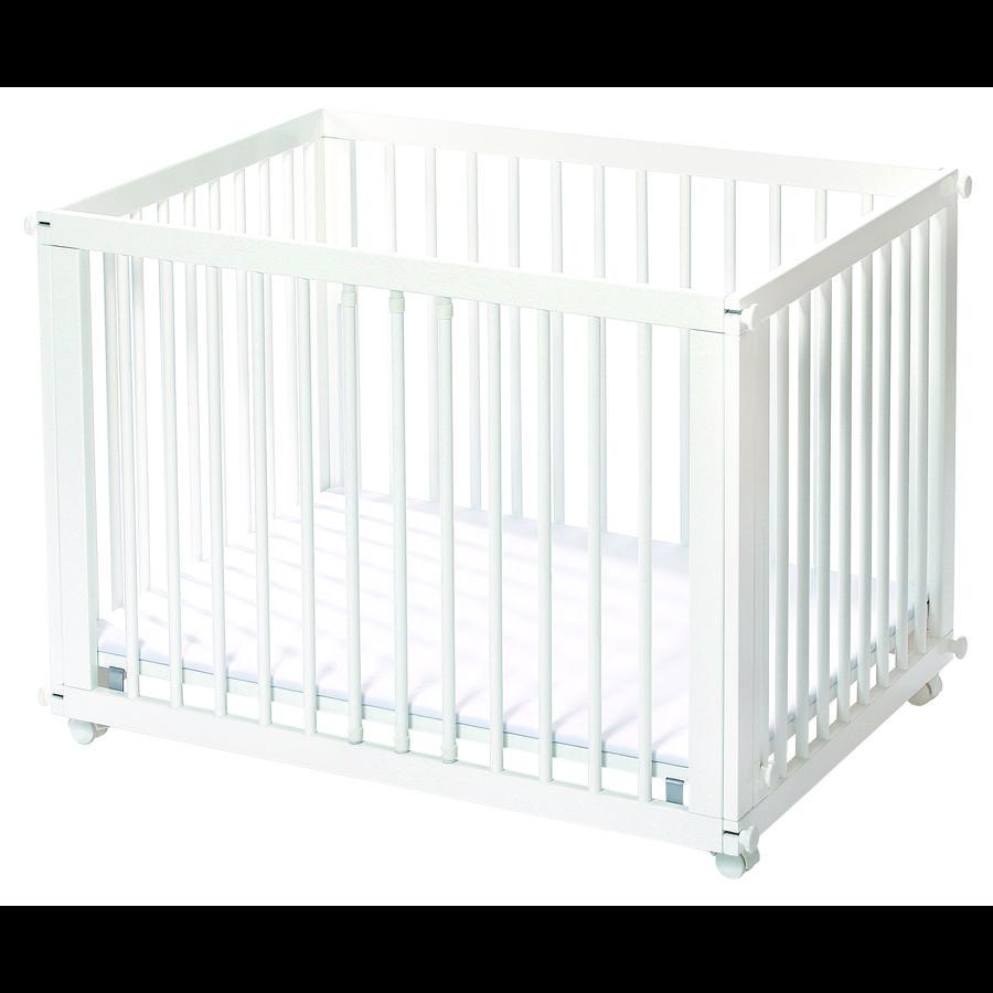 easy baby Lit parc combiné Sleep & Play, matelas, blanc