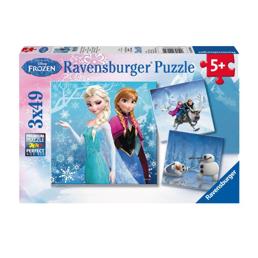 RAVENSBURGER Puzzel 3x49 Disney Frozen - Avontuur in winterland