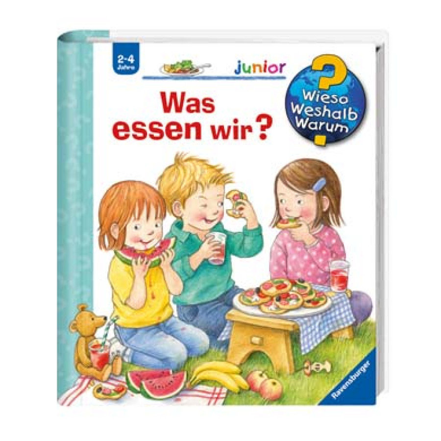 ravensburger wieso weshalb warum junior 53 was essen. Black Bedroom Furniture Sets. Home Design Ideas