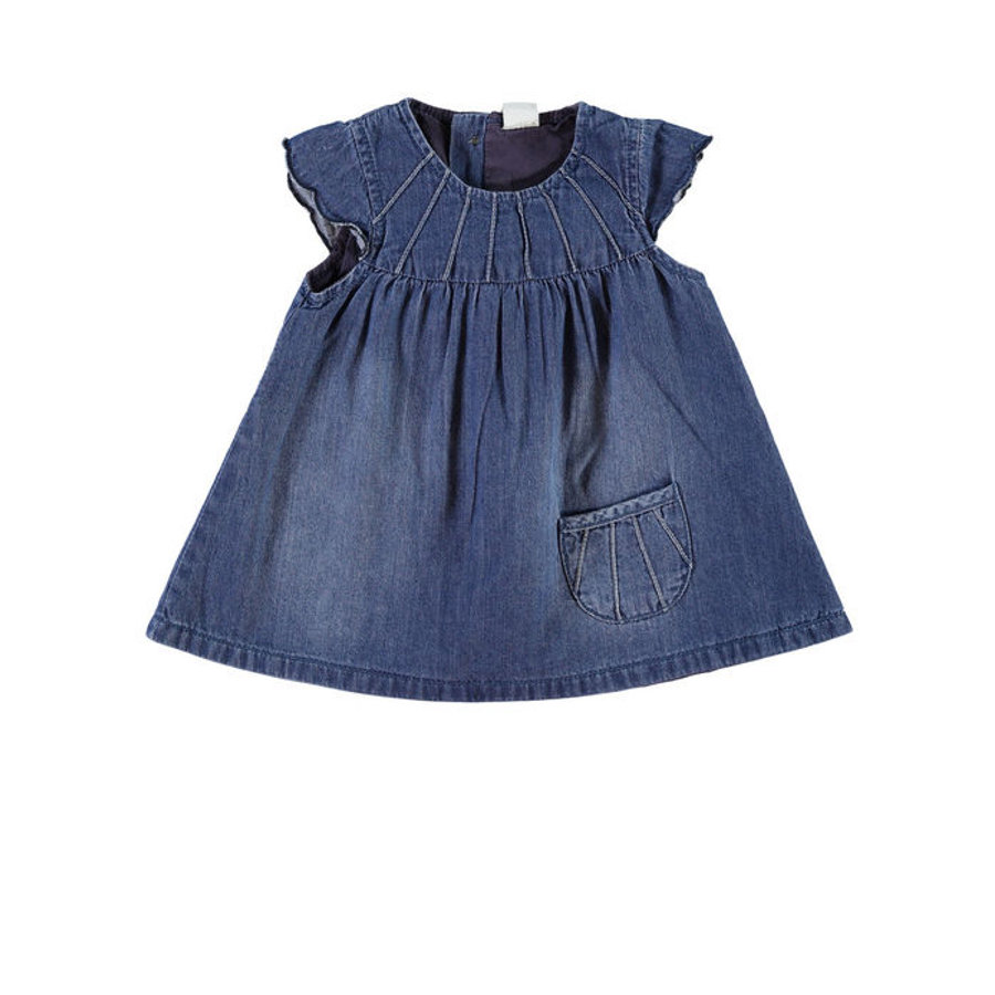 NAME IT Girls Baby Šaty NITDETE medium blue denim