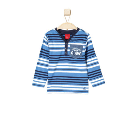 s.OLIVER Boys Bluzka z długim rękawem medium blue stripes