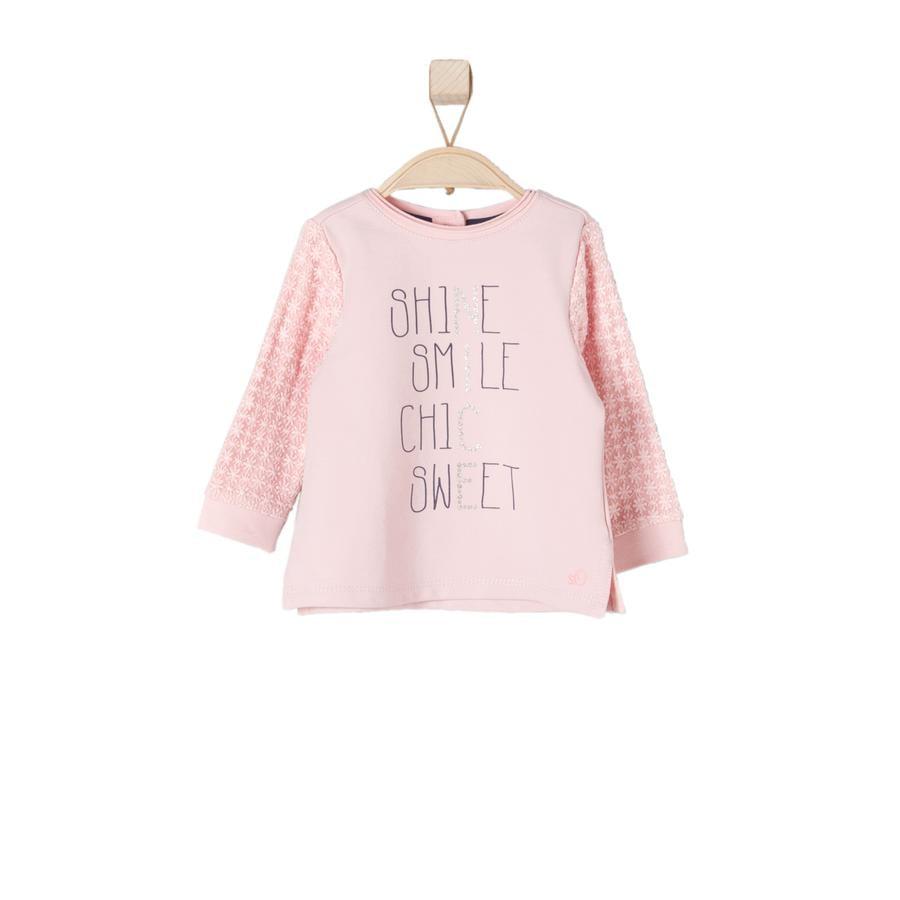 s.Oliver  Sweatshirt för flickor ljusrosa