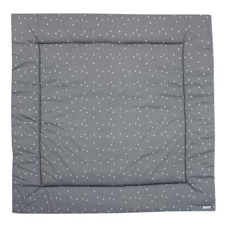 ALVI Krabbeldecke Trigon grau-weiß 120x120 cm