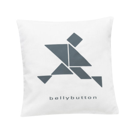 ALVI Dekokissen bellybutton limited edition white 30x30 cm