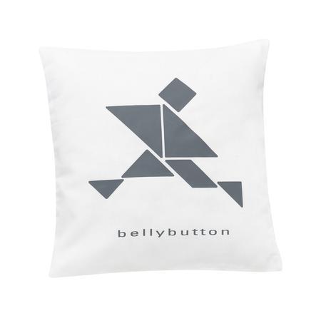 ALVI Prydnadskudde bellybutton limited edition white 30x30 cm