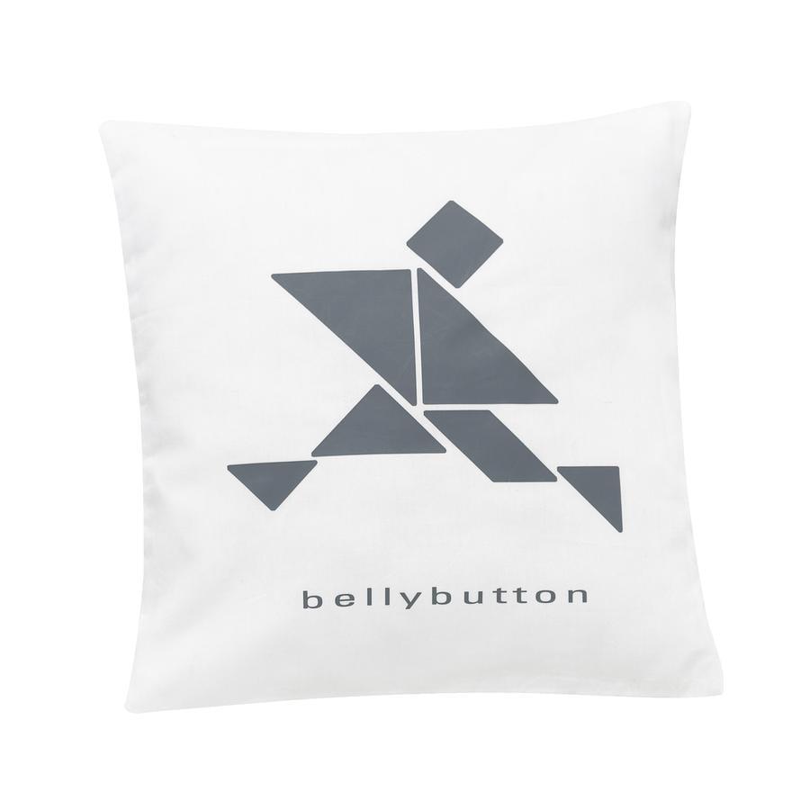 ALVI Dekorační polštář bellybutton limited edition white 30 x 30 cm