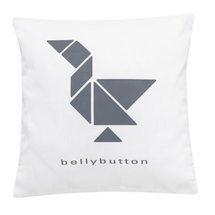 bellybutton by Alvi Dekokissen 30 x 30 cm, white duck