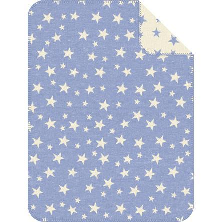 s.OLIVER Jacquard filt Stjärnor blå - 75x100 cm