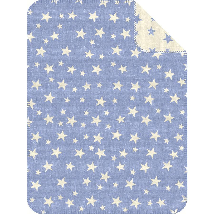s.OLIVER Kocyk żakardowy Gwiazdy blue - 75x100 cm