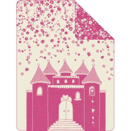 s.OLIVER Jacquard deka zámek růžová 150 x 200 cm