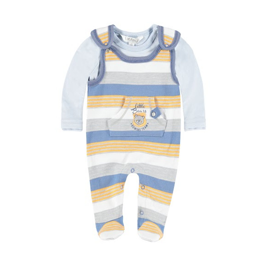 KANZ Boys Stramplerset 2-teilig grey blue