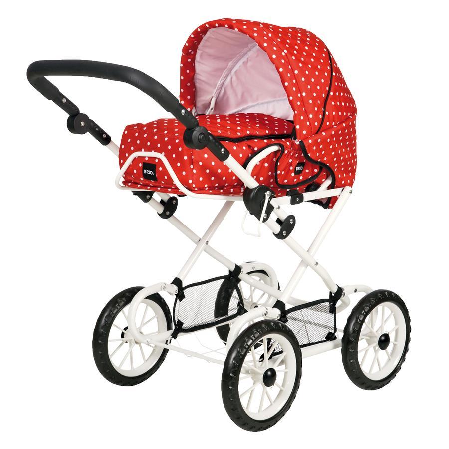 BRIO® Puppenwagen, rot mit Punkten