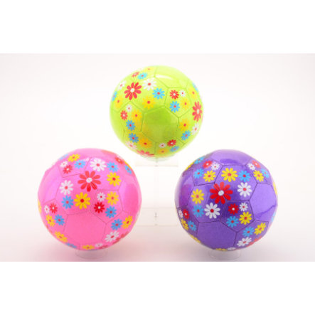 JOHNTOY Girls - Pallone bambina Fiori, Gr. 5 - 3 fantasie assortite