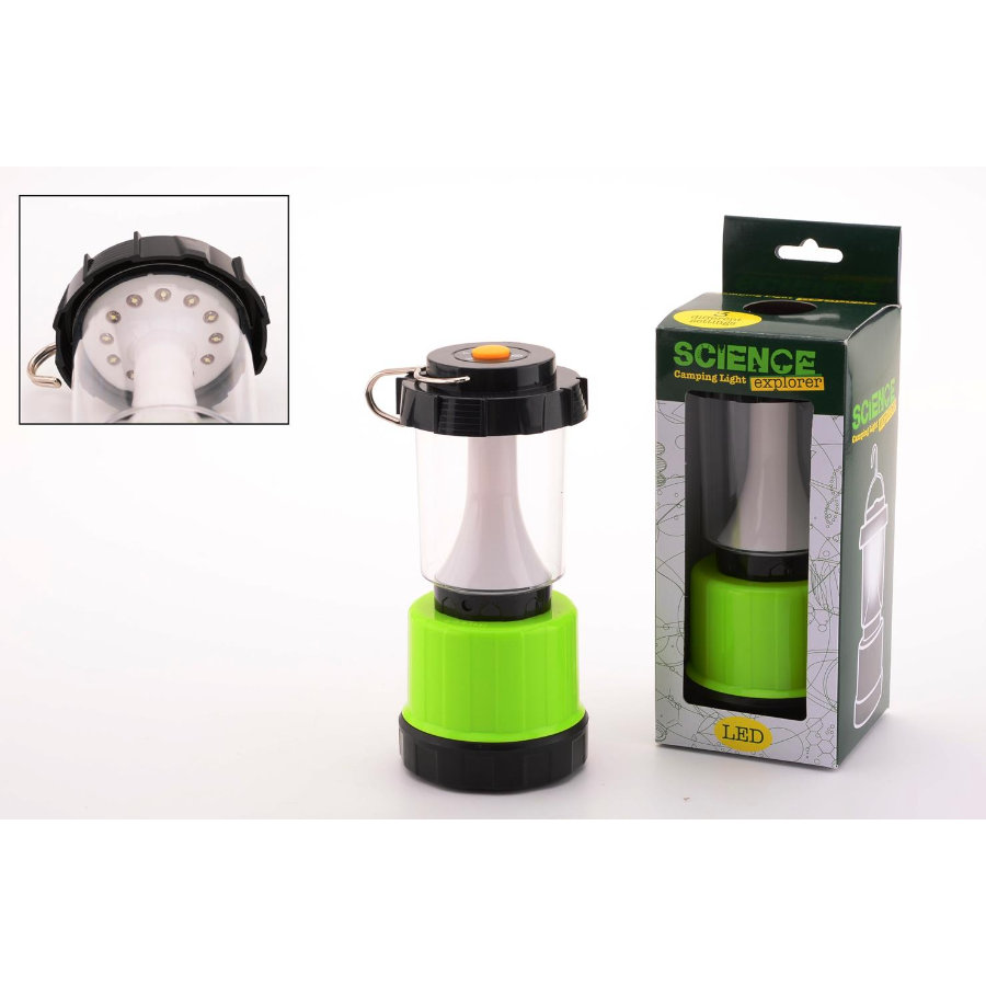 JOHNTOY Science Explorer - Lampadina da campeggio LED
