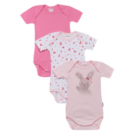 ABSORBA Lot de 3 bodies bébé, Fille, rosé