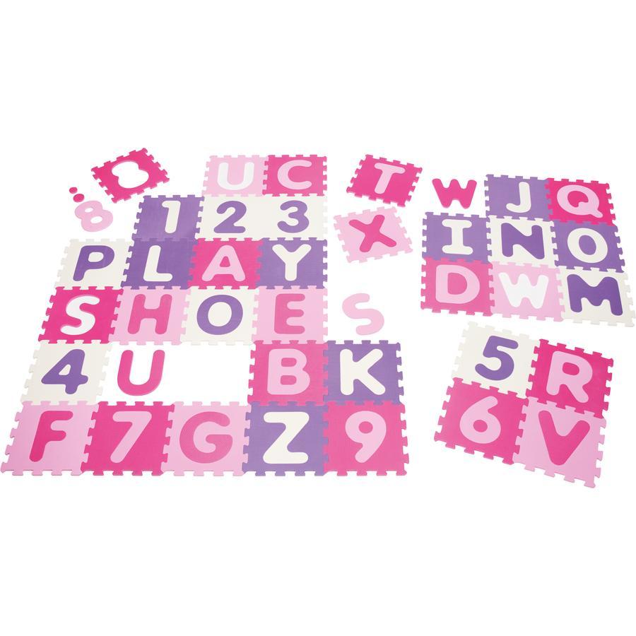 Playshoes EVA Lekematte og puslespill i ett - 36 deler, Bokstaver og tall